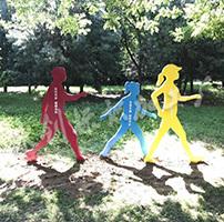 陕西健康主题公园形象雕塑制作