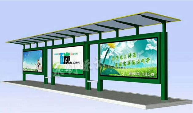 现代风格公交站台制作,城市公共设施公交站台多款可选